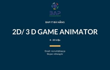 [BAP DA NANG] 2D/ 3D Game Animator