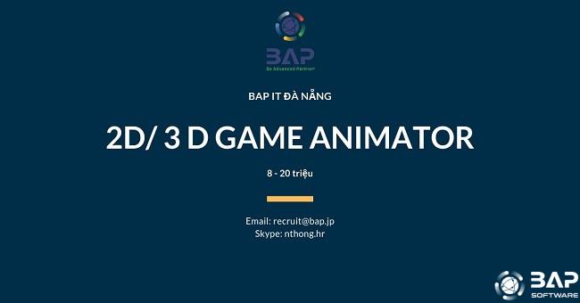 [BAP DA NANG] 2D/ 3D GAME ANIMATOR