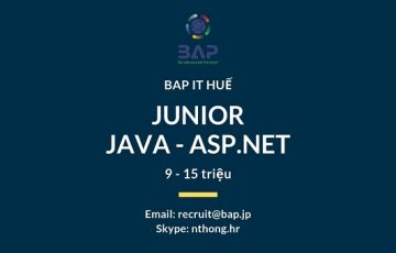 [BAP HUE] Junior Java & ASP.NET