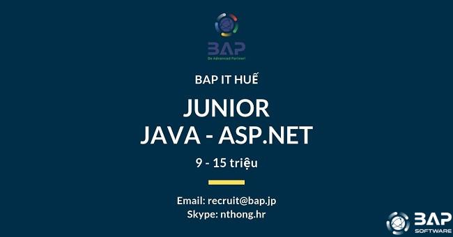 (English) [BAP HUE] Junior Java & ASP.NET