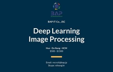 [BAP] Deep Learning & Image Processing Wanted