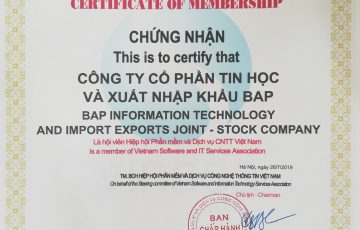 BAP – Member of Vietnam IT Software and Services Association