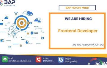 (English) Frontend Developer