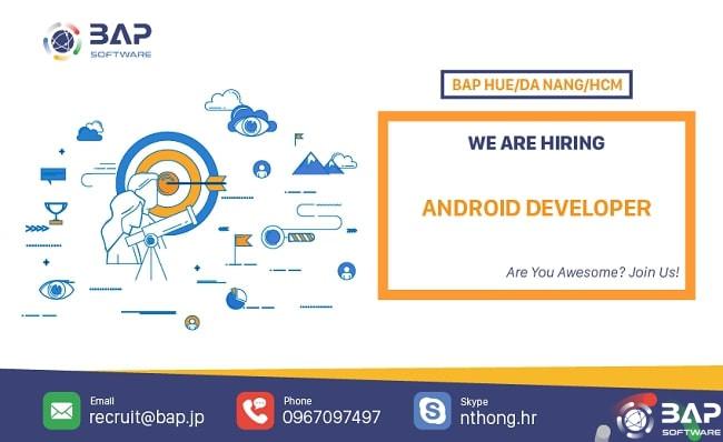 (English) Android Developer