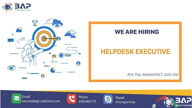 (English) Helpdesk Executive