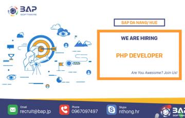 (English) PHP Developer