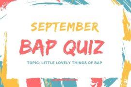 (English) September BAP Quiz