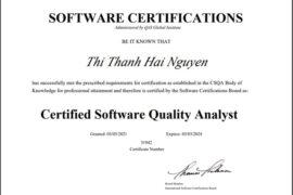Chúc mừng nhân viên đầu tiên tại BAP đạt chứng chỉ CSQA (Certified Software Quality Analyst)