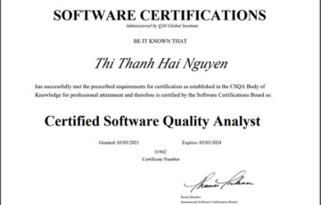 BAP Development: The first employee at BAP to get CSQA (Certified Software Quality Analyst) certificate